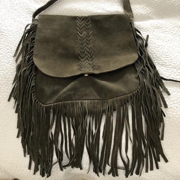 Never used bohemian, fringed leather purse